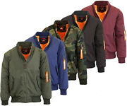 Galaxy Spire Menand039s Flight Bomber Aviator Jacket Water Resistant Free Shipping