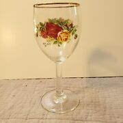 Set Of 12 Royal Doulton Old Country Roses Wine Glasses Goblets 7 9oz And Case.