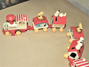 Vintage Peanuts Wind Up Train Snoopy Woodstock Working 1958 1972 Lot Of 2 Rare
