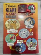 Vintage 1994 Disney's Giant Board Game Book 6 Games Working Electronic Dice