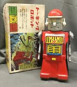 Yonezawa Toys Electric Tin Made In Jpn Talking Robot Domestic Specification 810