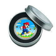 Children's Day Gifts Gold Plated Super Mario Commemorative Metal Coin Craft