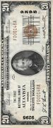 National Currency Paper Money Us Notes 20 1929 9295