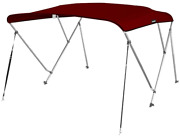 Msc 3 Bow Bimini Top Boat Cover With Rear Support Pole And Storage Boot, Color 3