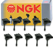 10 Pcs Ngk 48999 Ignition Coil For U4014 1415085 Ic438 Uf295t Gn10191 48999 Vw