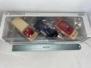 Automoblox Wood Toy Cars 3 Pack - Police Car, Ambulance, Fire Rescue Kids 4+ Yrs