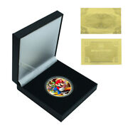 Collective Gifts Gold Plated Super Mario Commemorative Metal Coin Craft