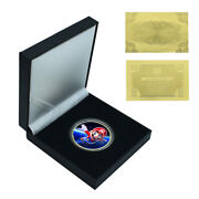 Christmas Eve Gift Gold Plated Super Mario Commemorative Metal Coin Craft