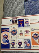 New York Mets Schedule Lot 11 In All. 1978 Has Roster,87 World Champs And More