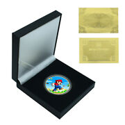 Children's Birthday Gifts Gold Plated Super Mario Commemorative Metal Coin Craft