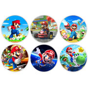 6pcs Art Decoration Gifts Silver Coin Super Mario Commemorative Metal Coin Craft