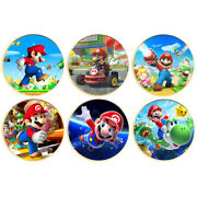 6pcs Children's Gifts Gold Plated Coin Super Mario Commemorative Metal Coins