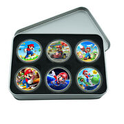 Art Crafts Holiday Gifts Gold Plated Coin Super Mario Commemorative Metal Coin