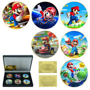 Birthday Present Gold Plated Coin Super Mario Commemorative Metal Coin Gift Box