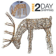 24 Inch Reindeer With 50 Lights Christmas Figurine Outdoor Yard Decorations Sale