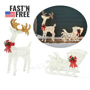 2 Ft Reindeer With Led Lights Christmas Outdoor Yard Ornaments Decorations Sale