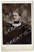 1898 Cabinet Card Attractive Young Lady Victorian Fashion Schemm Family Phila.pa