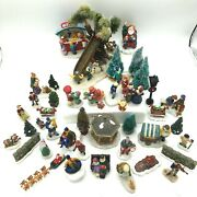 Lot Of 43 Vintage Lemax And Other Christmas Village Figurines And Accessories