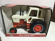 Case 970 Agri-king Tractor W Cab Vintage 1/16 Scale New In Box By Ertl