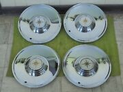 Nice 56 57 Lincoln Premiere Hub Caps 15 Set Of 4 Wheel Covers Hubcaps 1956 1957