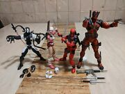 Marvel Legends Select Deadpool Gwenpool Lot Used Complete Back In Black Gwenpool