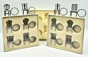 Lenox Kirk Stieff 12 Pewter Colonial Chair Napkin Ring Place Card Holders Nib