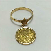 Pure Gold Disney K18 K24 Coin Ring