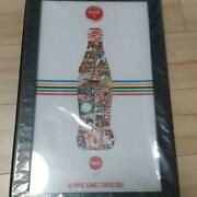 Coca-cola Olympics Games Tokyo 2020 Pin Badge Complete Set With Picture Frame
