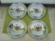 Nice 55 56 Ford Hubcaps 15 Set Of 4 Wheel Covers Hub Caps 1955 1956