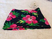 Hollister Blue Floral Skirt Size 9 With A Side Zipper