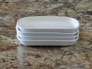 Set Of 4 Twa Trans World Airlines White Abco Japan 44-1136 Plates Dishes