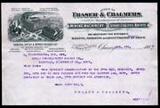 1887 Mining Machinery Steam Engine - Frasher And Chalmers - Chicago Il Letter Head