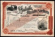 Elbert H Gary Founder Of Us Steel Signs 1917 Duluth Stock Certificate In Ex Rare