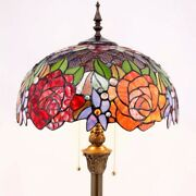 Style Floor Lamp 64 Tall Stained Glass Living Room Bedroom Decoration