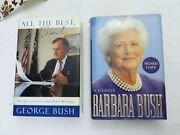 George All The Best.. And Barbara Bush A Memoir Signed Autobiogs + Wh Bday Crd