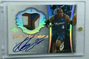 /25 Antawn Jamison 2005 Upper Deck Exquisite Noble Nameplates Auto Patch Jersey