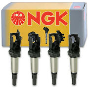 4 Pcs Ngk Ignition Coil For 2011-2016 Mini Cooper Countryman 1.6l L4 - Spark Ps