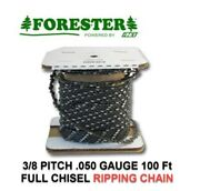 100ft Roll 3/8 .050 Full Chisel Ripping Chainsaw Chain Repl. A1lmrp100