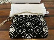 Stunning New Jimmy Choo Purse- Callie Black Suede With Gorgeous Crystal Beading