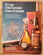 1966 Old Forester Whiskey Christmas Tree Promo Bottle Art Photo Vintage Print Ad