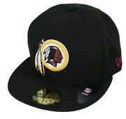 Rare Nwt Authentic Washington Redskins New Era Black 59fifty Fitted Hat Cap