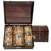 Georgia Tech Gt Decanter Set Whiskey Bottle And Glasses