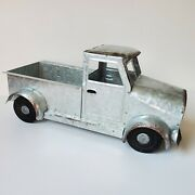 Silver Pickup Truck Decor Approx 12 Metal Farmhouse Rustic Barn Old Table New