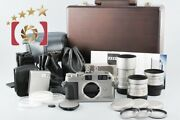 Contax G1 20th Anniversary Limited Kit W/ Case, 28mm, 45mm, 90mm, Lenses
