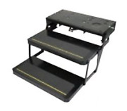 Lippert Components 372779 Series 42 Double Electric Folding Step Powder Coated