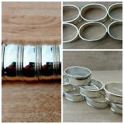 8 Stunning Silver Plate 'oval' Napkin Rings Unused Boxed