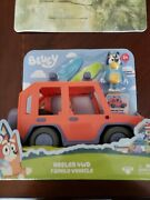 Bluey Heeled 4wd Family Vehicle Car With Bandit And 2 Surf Boards