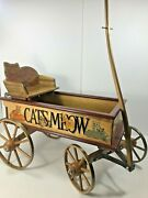 Vtg Wooden Kitty Wagon The Catand039s Meow J P Bartholomew Co 1990s Handcrafted Rare