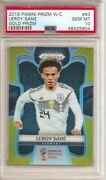 2018 Prizm World Cup Leroy Sane Gold Refractor Psa 10 Rookie Rc And039d 6/10 Germany