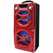 Sylvania Sp328-red, Portable Speaker With Bluetooth, Connect To Iphone, Ipad Or